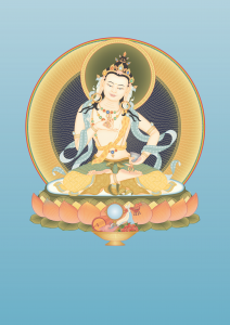 Vajrasattva 2 with offerings and back